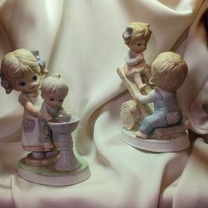 Homco 1406 Pair of Children Playing Figurines